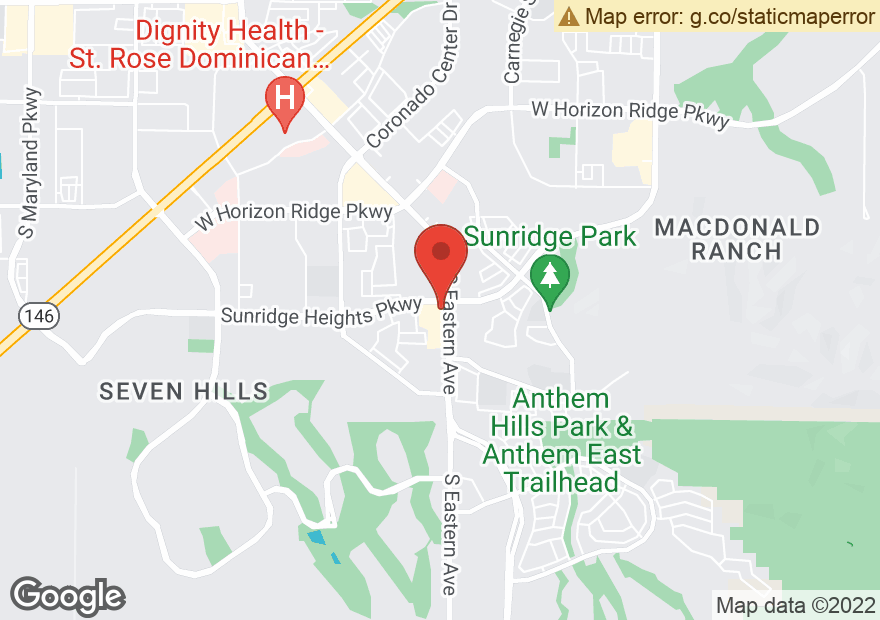 Google Map of 11001 S EASTERN AVE