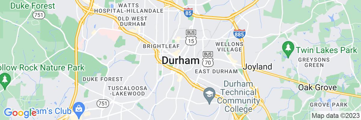 Google Map of 35.994032777778,-78.898618888889
