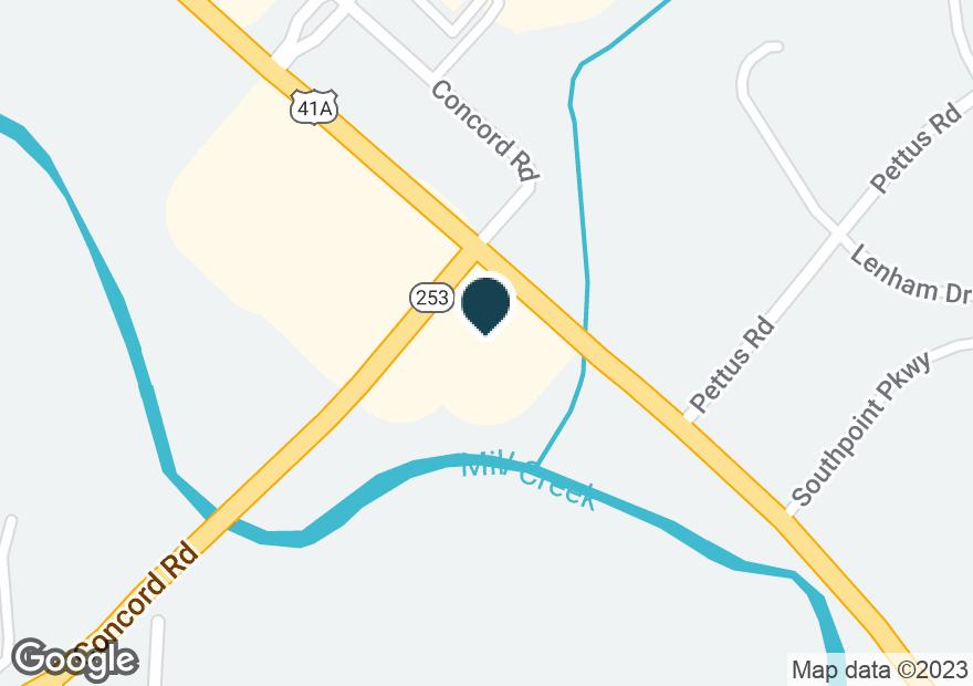 Google Map of6815 NOLENSVILLE RD