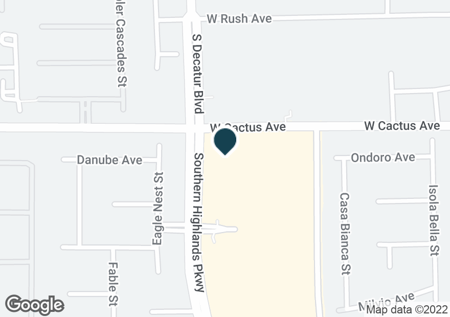 Google Map of10510 SOUTHERN HIGHLANDS PKWY