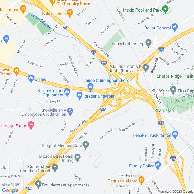 Map of I 75 South Metro Express Lanes