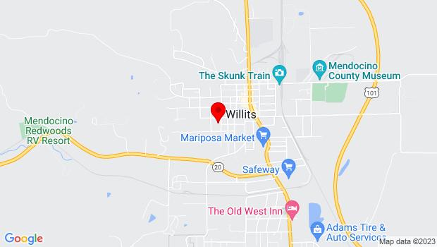 Google Map of 350 North Street, Willits, CA 95490