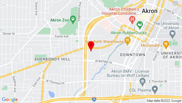Google Map of 350 Opportunity Parkway, Akron, OH 44307