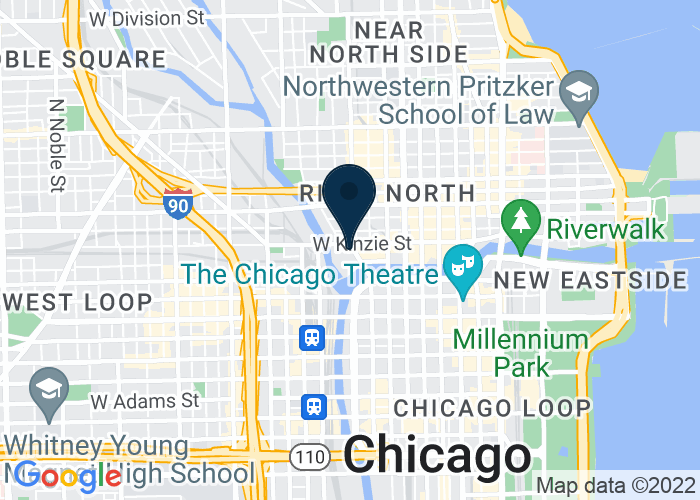 Map of 350 West Mart Center Drive, Chicago, IL 60654, United States