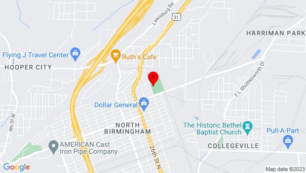 Google Map of 3501 28th Street North, Birmingham, AL 35207