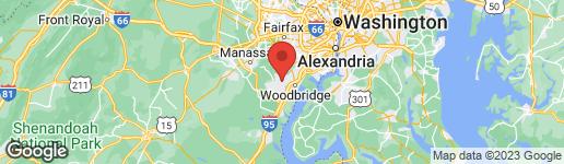 Map of 3501 BEAVER FORD ROAD WOODBRIDGE, VA 22192