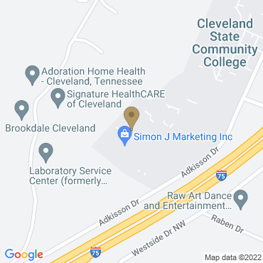 Google Map of 3505 Adkisson Dr, Ste 205 Cleveland, Tennessee 37312