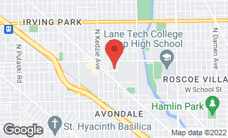 Map of 3509 North Whipple Street #1 CHICAGO, IL 60618