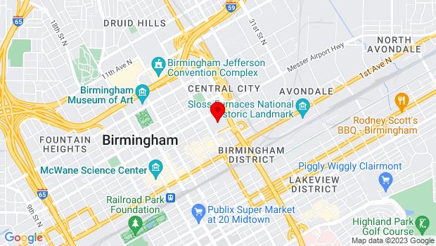 Google Map of 351 24th Street North, Birmingham, AL 35203