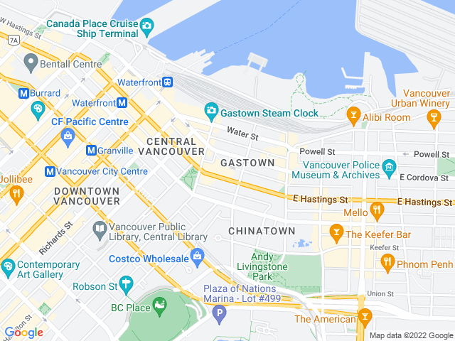 Google Map of Vancouver,BC