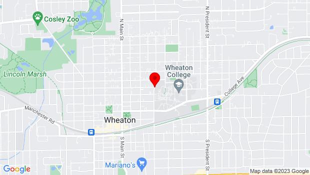Google Map of 351 Lincoln Ave., Wheaton, IL 60187