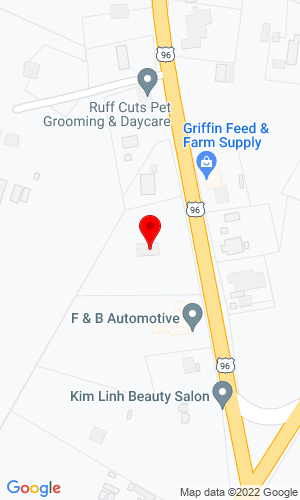 Google Map of San Augustine Tractor 352 Us Highway 96 S, San Augustine, TX, 75972
