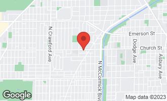 Map of 3521 Church Street B EVANSTON, IL 60203