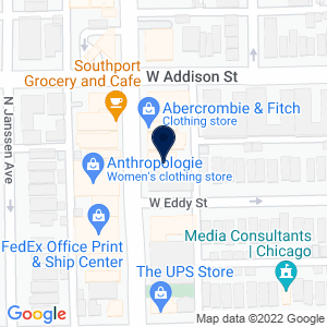 Google Map of 3539 N Southport Ave Chicago, IL 60657 U.S.A.