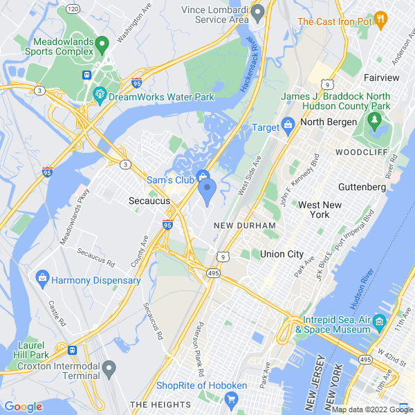 Heroes and Villains Fan Fest NY/NJ Map