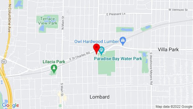 Google Map of 355 East Parkside, Lombard, IL 60148