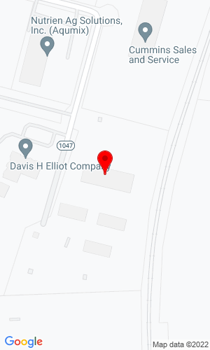 Google Map of Lawrence Equipment 357 Simmons Drive, Cloverdale (Roanoke), VA, 24077