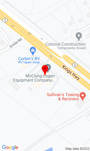 Google Map of White Oak Equipment 358 Kings Hwy, Fredericksburg, VA, 22405