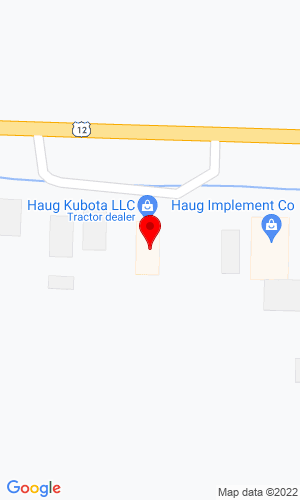 Google Map of Haug Implement 3593 E Highway 12, Willmar, MN, 56201