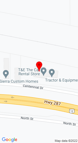 Google Map of T&E Equipment The Cat Rental Store 3598 Centennial Dr., Helena, MT, 59601