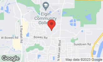 Map of 35W907 Crispin Drive ELGIN, IL 60123