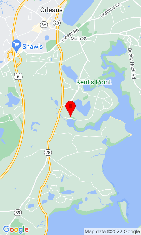 Google Map of36 Areys Lane Orleans MA 02653
