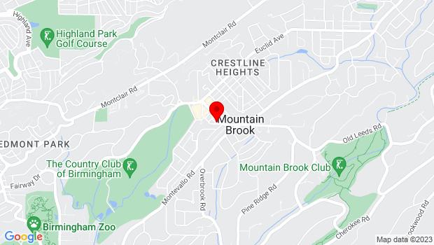Google Map of 36 Church St, Birmingham, AL 35213
