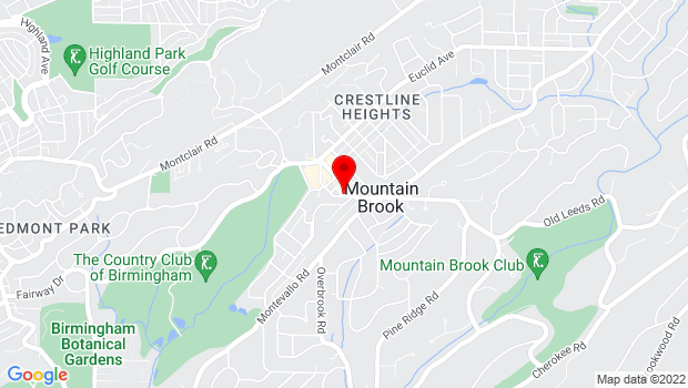 Google Map of 36 Church Street, Birmingham, AL 35213