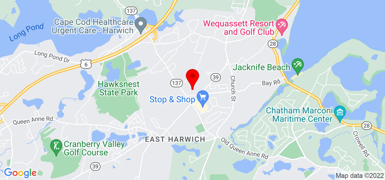 Google Map of36 Old Carriage Drive Harwich MA
