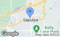 Map of Sapulpa, OK