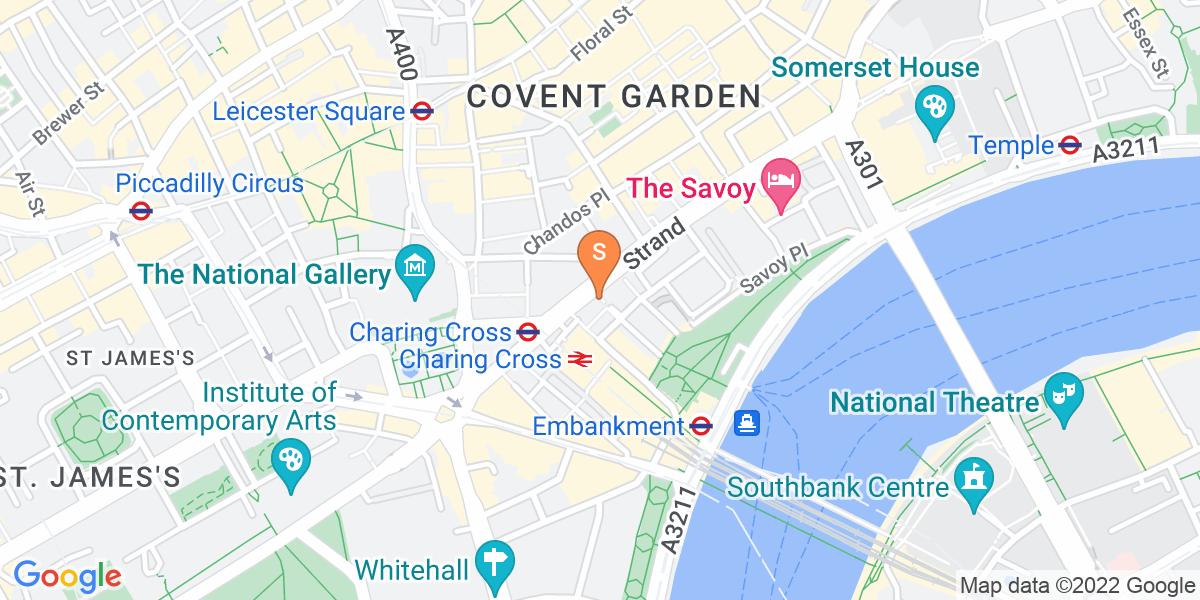 Google Map of 36-37 Strand London WC2N 5HY