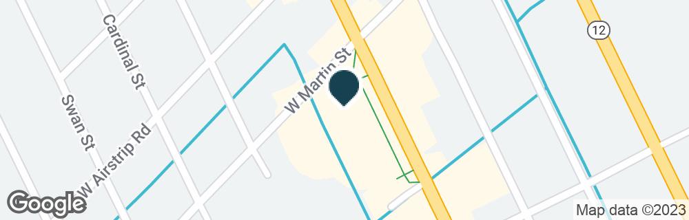 Google Map of1200 S CROATAN HWY