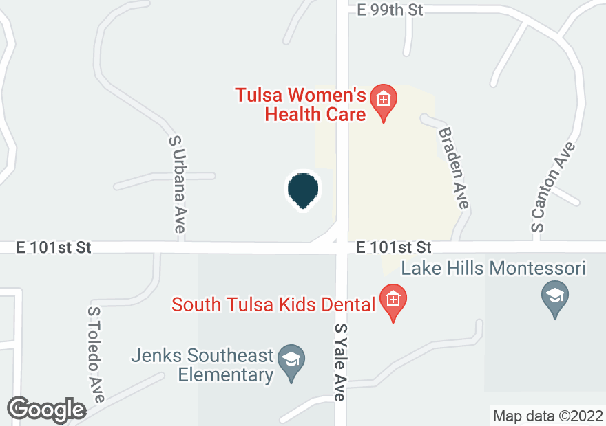 Google Map of10018 S YALE AVE
