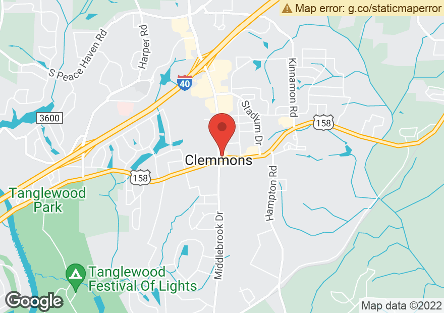 Google Map of 2795 LEWISVILLE CLEMMONS RD