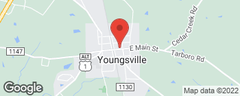 Map of 133 E Main St in Youngsville