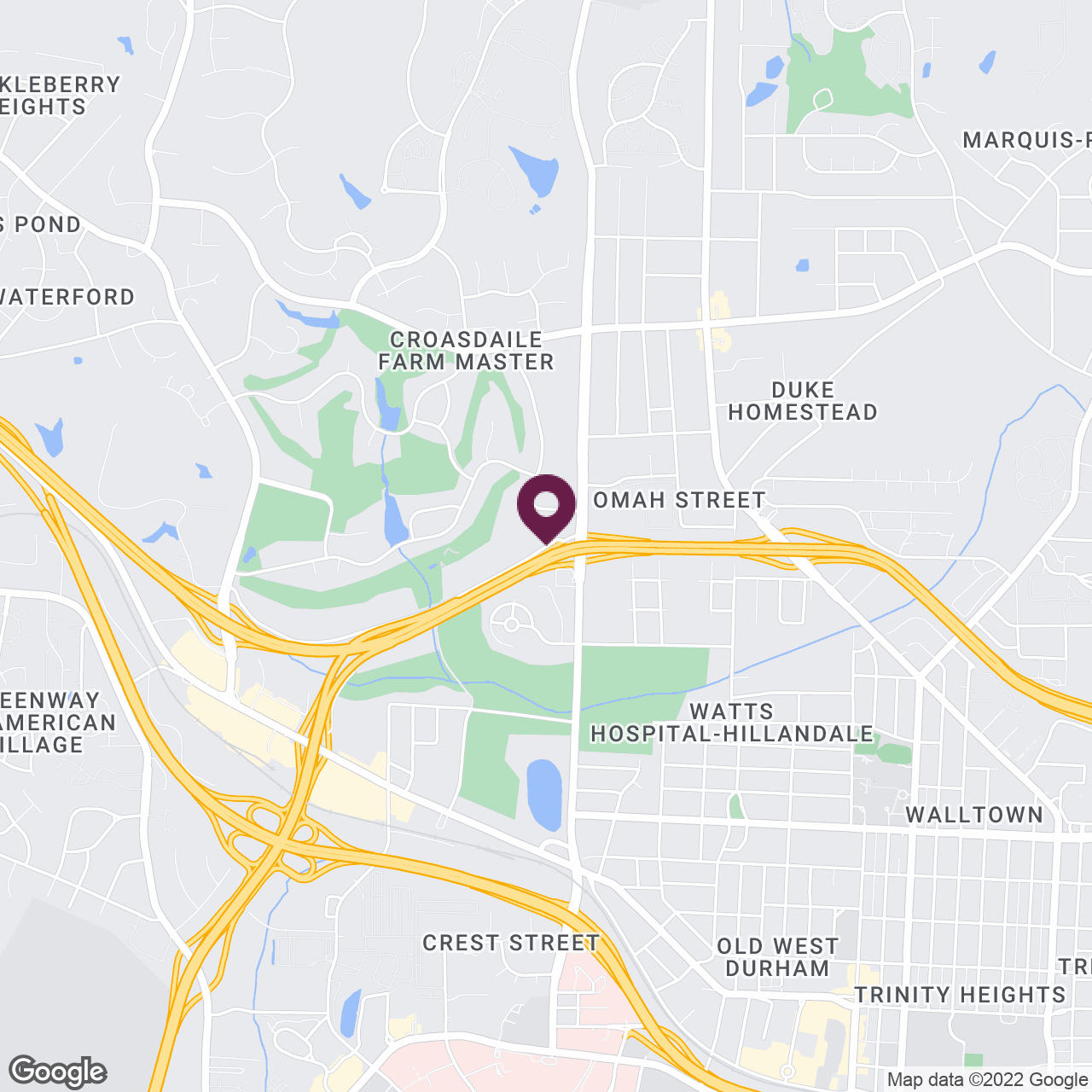 Google Maps static image of Durham, North Carolina