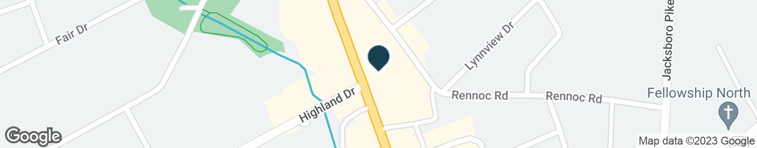 Google Map of5006 N BROADWAY ST