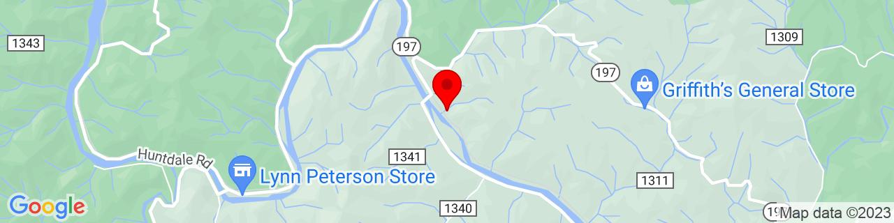 Google Map of 36.0342787, -82.29346389999999