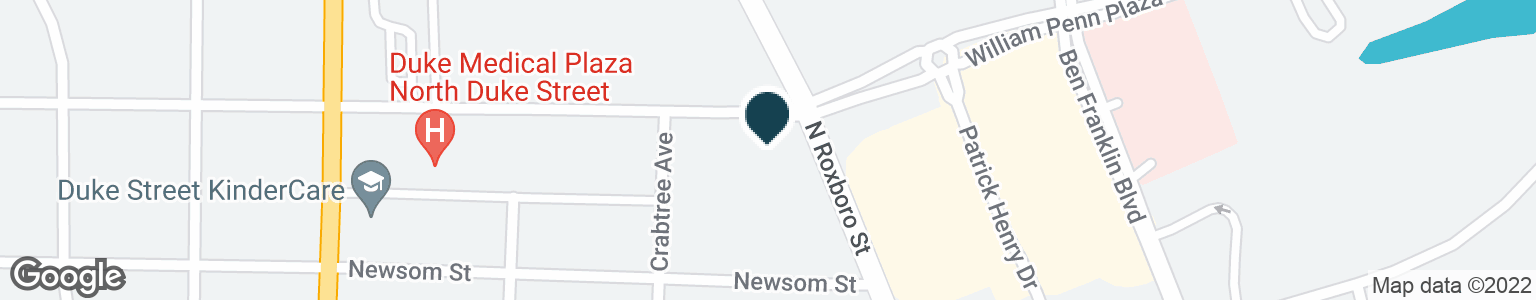 Google Map of3905 N ROXBORO ST