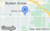 Map of Broken Arrow, OK