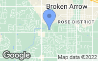 Map of Broken Arrow, OK