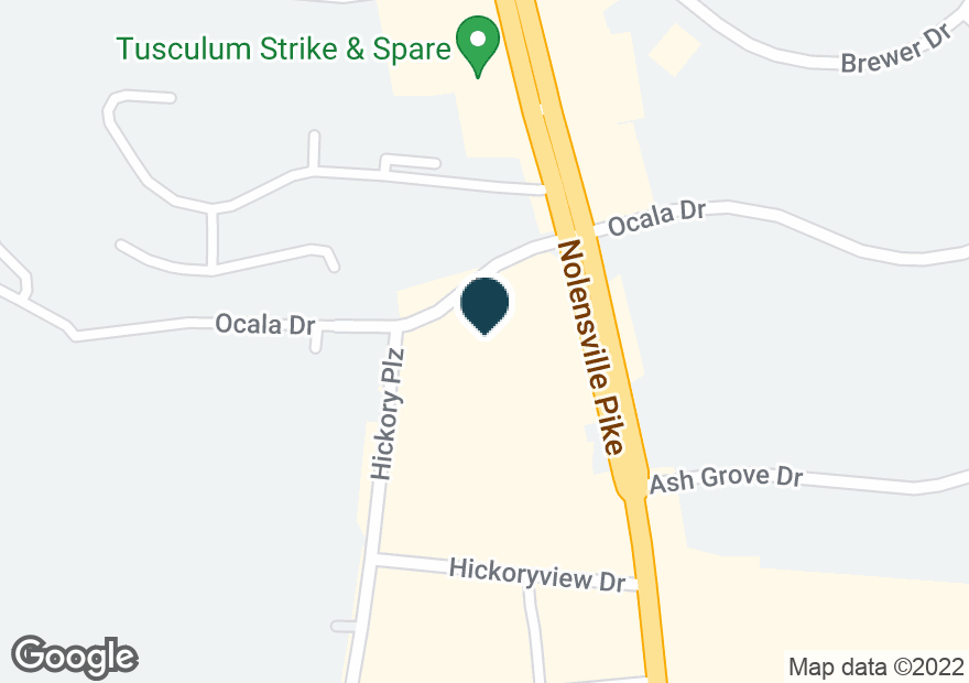 Google Map of5429 NOLENSVILLE PIKE