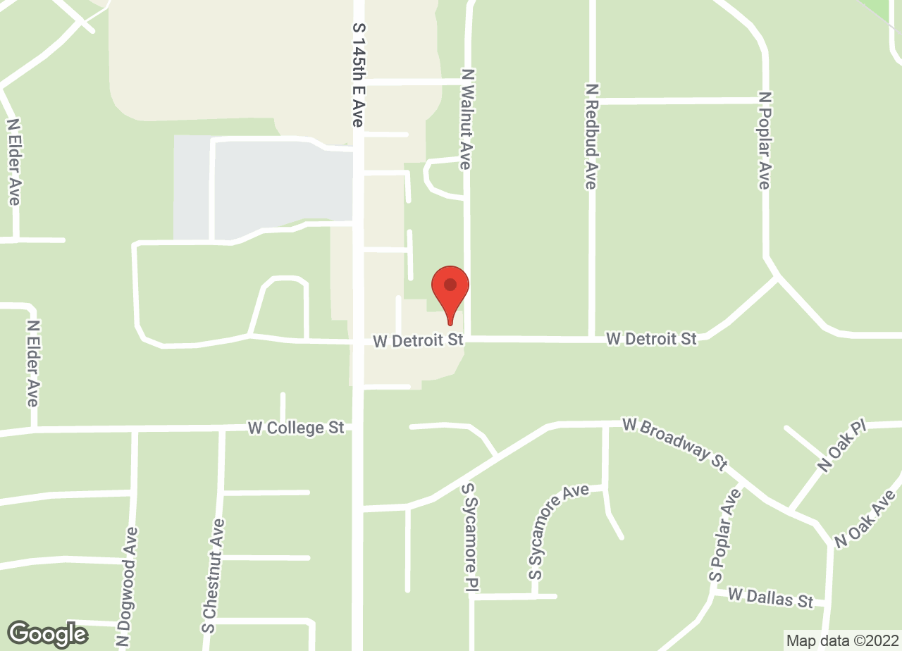 Google Map of VCA Woodland Broken Arrow Animal Hospital