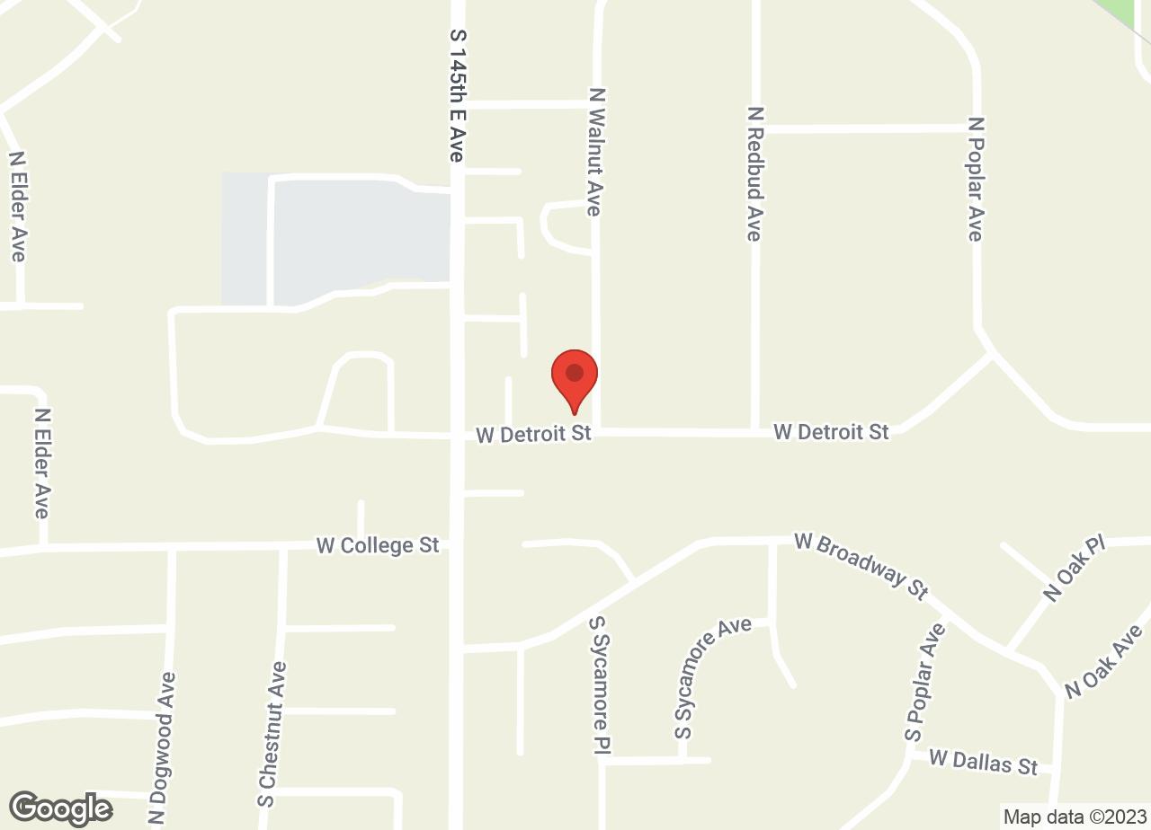Google Map of VCA Woodland Broken Arrow Animal Hospital