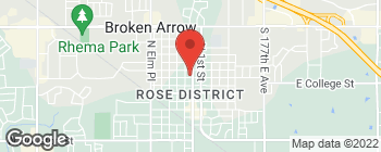 Map of 300 N Main St in Broken Arrow