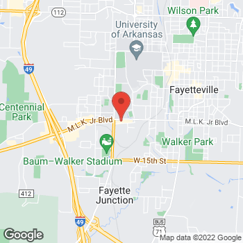 Map of Arby's at 1263 W. Martin Luther King Jr. Blvd., Fayetteville, AR 72701-6313
