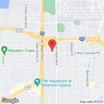 Map of Taco Bell at Warm Springs and Gabriel, Las Vegas, NV 89119