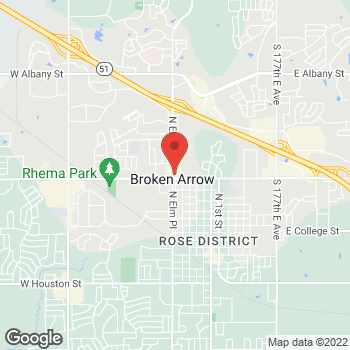 Map of Arby's at 624 W Kenosha, Broken Arrow, OK 74012
