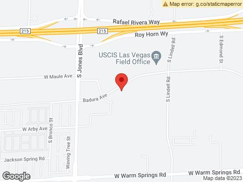 View Map of the design studio in Las Vegas, NV