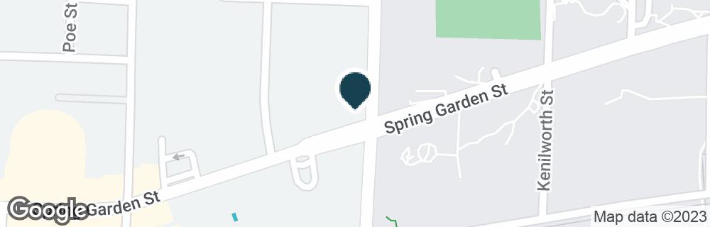 Google Map of1600 SPRING GARDEN ST